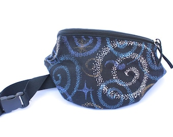 Fanny pack Midnight Spiral - Cute  - Hip Waist Bag
