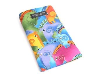 Eyeglass case for readers - Colorful Horse fabric   checkbook case or cell phone pouch.
