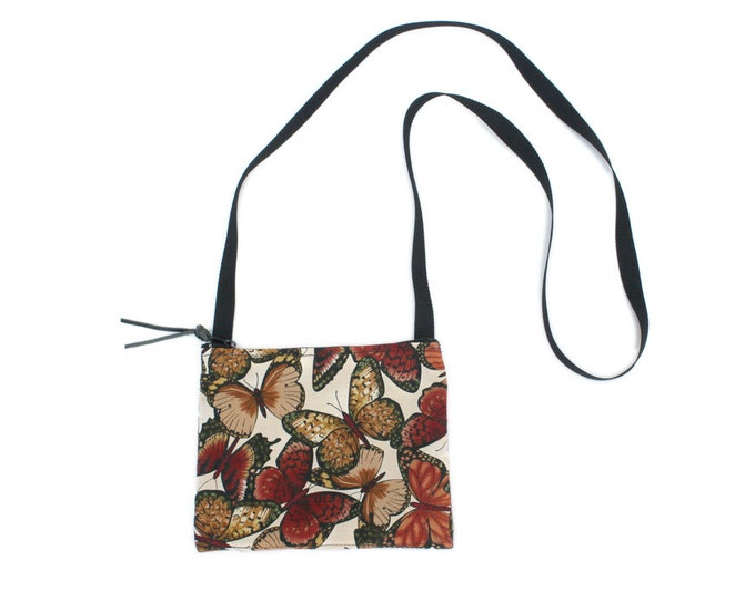 Mini crossbody bag - Butterfly fabric  perfect for travel or a night out!