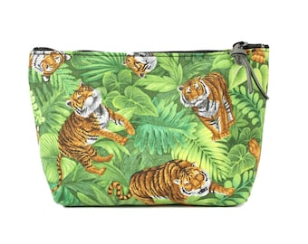 "7"" Tiger Pouch Makeup Cosmetic Bag"