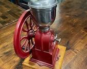 1940 39 s Elma Hand Crank Coffee Cast Iron Wheel Grinder