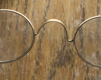 9d9929a85151 Vintage 1800 Era Stoco Eyeglasses Wire Rim 1 10-12K Gold With Case