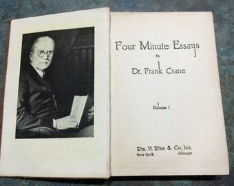 Four Minute Essays Dr. Frank Crane 1919