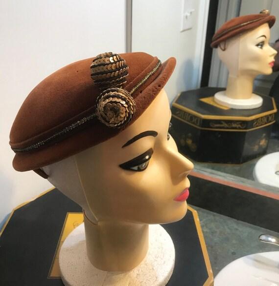 Vintage 1950's Chapeaux Made in France Fascinator… - image 1