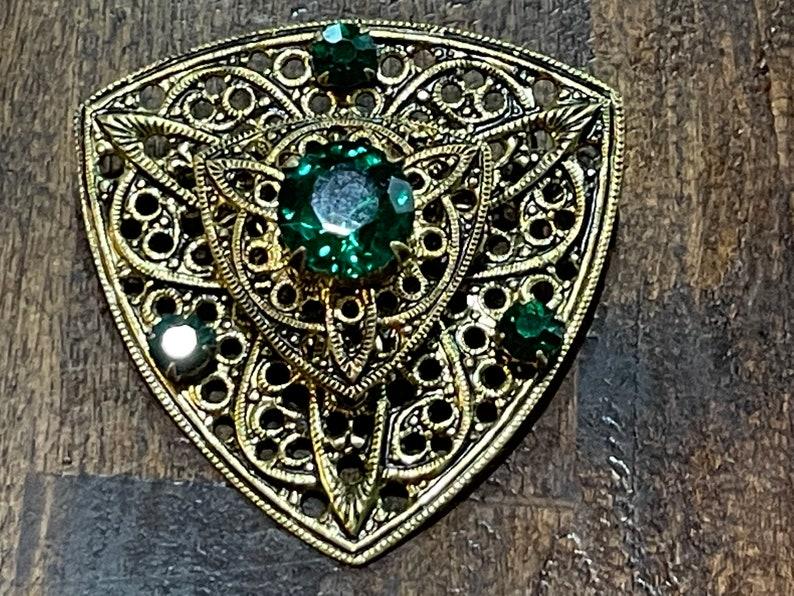 1950/'s Green Stone Brooch