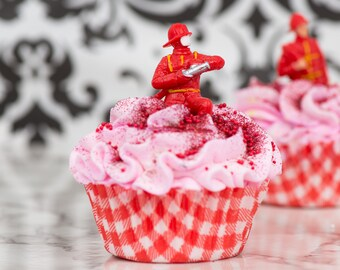 Take a bath with one HOT FIRE CAKE! Cupcake Bath Bomb Pack of 3