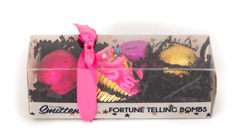 Fortune Telling Trio Bath Bomb Fizz Set by Feeling Smitten, cruelty free,  GMO free, fair trade, sls free, 100% FUN