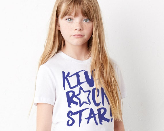Kiva Rock Star: Kid's Unisex Soft Blend T-Shirt