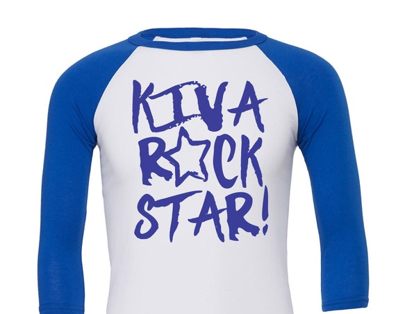 Kiva Rock Star: Kid's Unisex Soft Baseball Shirt