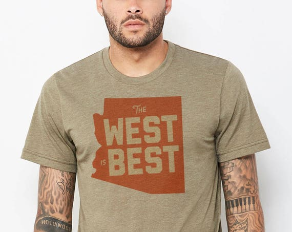 The West is Best : Adult's Crew Neck T-Shirt