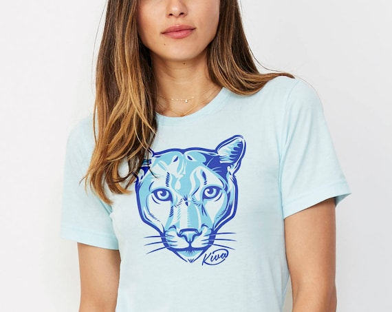 Kiva Cougar : Adult's Unisex Soft Blend T-Shirt