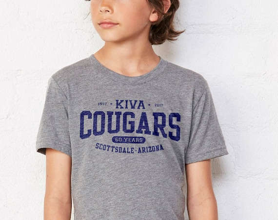 Kiva Cougars 60th Anniversary : Kid's Unisex Soft Blend T-Shirt