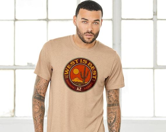 The West is Best Circle : Adult's Unisex Crew Neck T-Shirt