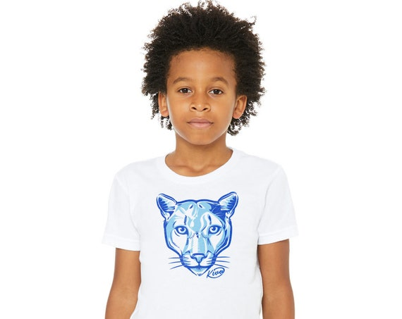 Kiva Cougar : Kid's Unisex Soft Blend T-Shirt