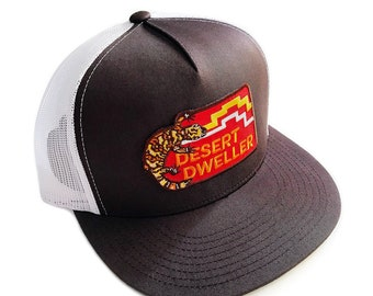 Desert Dweller Gila Monster : Flat Brim Trucker Hat