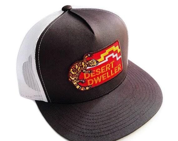 Desert Dweller Gila Monster : Flat Brim Trucker Hat
