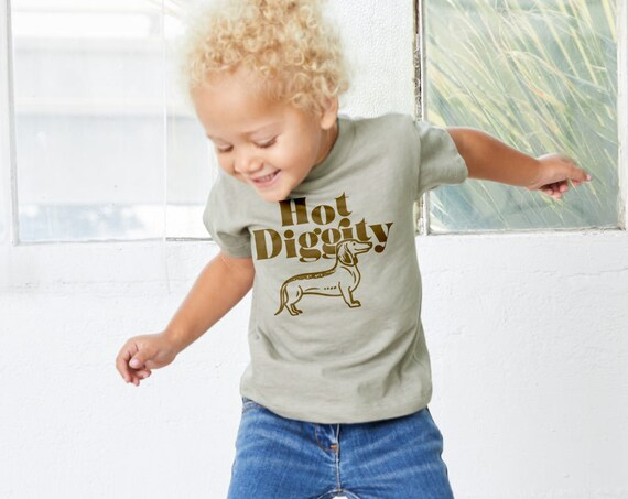 Hot Diggity Dog : Kid's Unisex Soft Blend T-Shirt