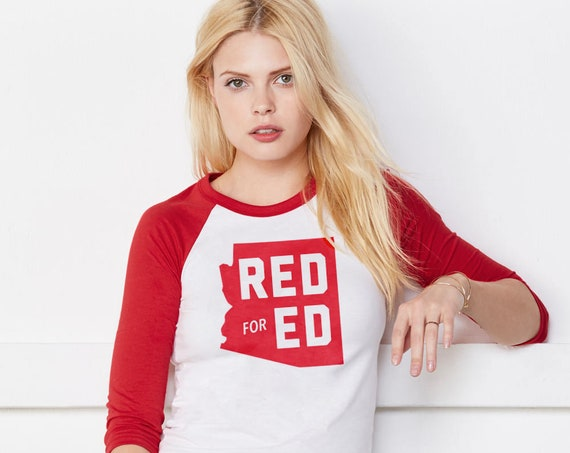 Red for Ed Arizona : Unisex Soft Baseball Shirt