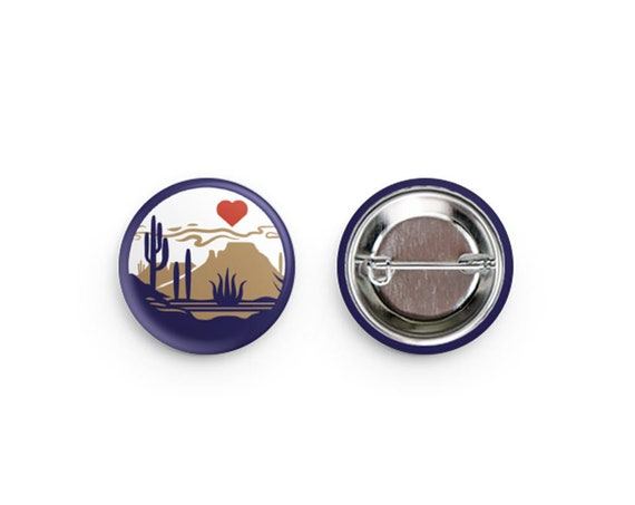 Heart of the Desert Pinback Buttons: 1.25""