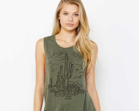 Sketchy Desert : Women's Muscle T-Shirt