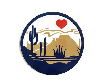 "Heart of the Desert : 3"" Vinyl Sticker"