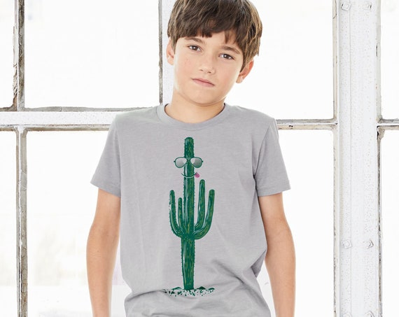 Cool as a Cactus : Kid's Unisex Soft Blend T-Shirt