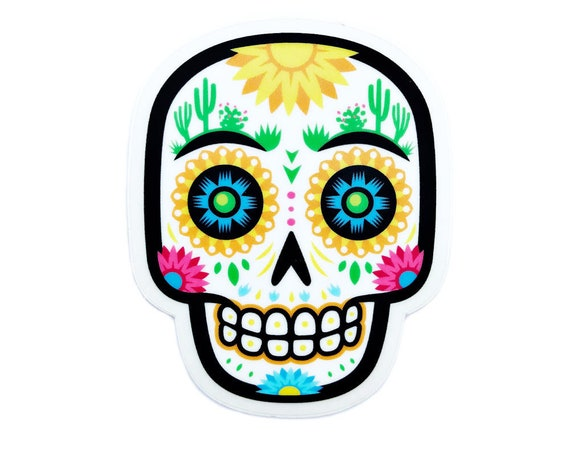 "Desert Sugar Skull : 3"" Vinyl Sticker"