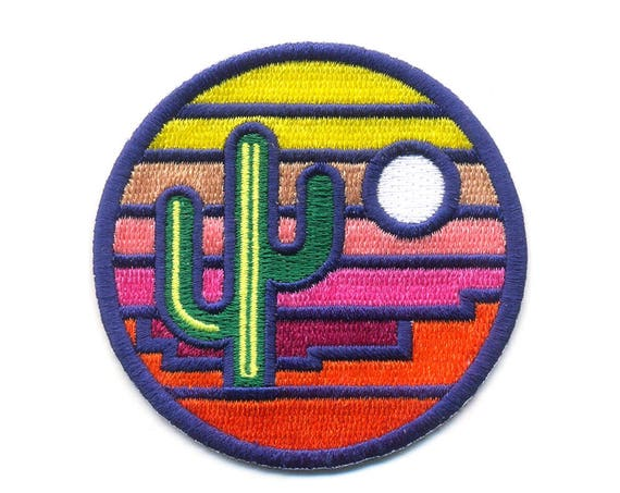 Stained Glass Sunset : Embroidered Patch