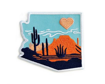 Heart of the Desert : Embroidered Patch