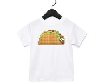 8-Bit Taco : Kid's Unisex Soft Blend T-Shirt