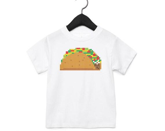 8-Bit Taco : Kid's Unisex Soft Blend T-Shirt