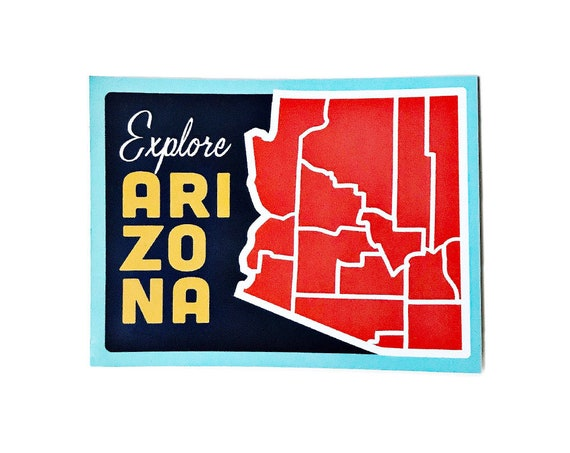 "Explore Arizona  : 4"" Vinyl Sticker"