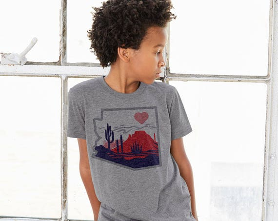 The Heart of the Desert : Kid's Unisex Soft Blend T-Shirt