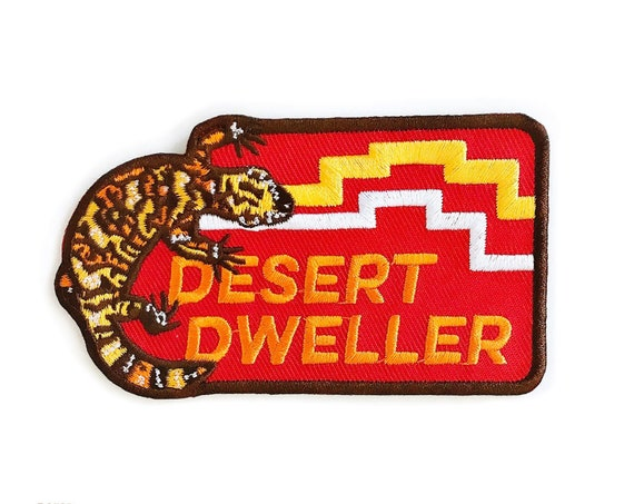 Desert Dweller Gila Monster : Embroidered Patch