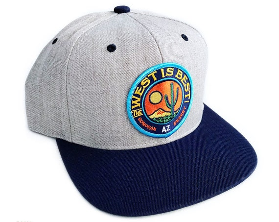 The West is Best : Flat Brim Snapback Cap