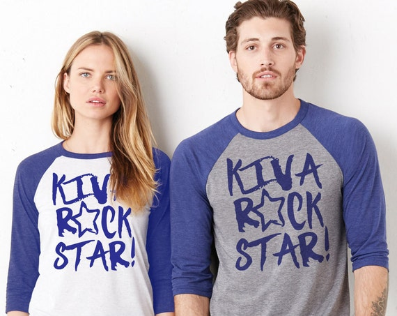 Kiva Rock Star : Adult Unisex Baseball Shirt