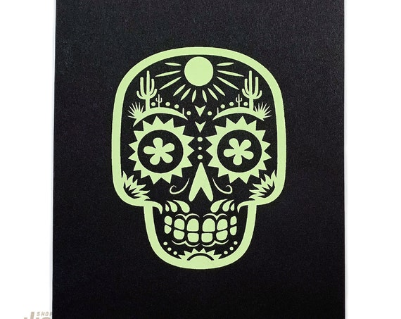 Desert Calavera : Small Format Screen Print