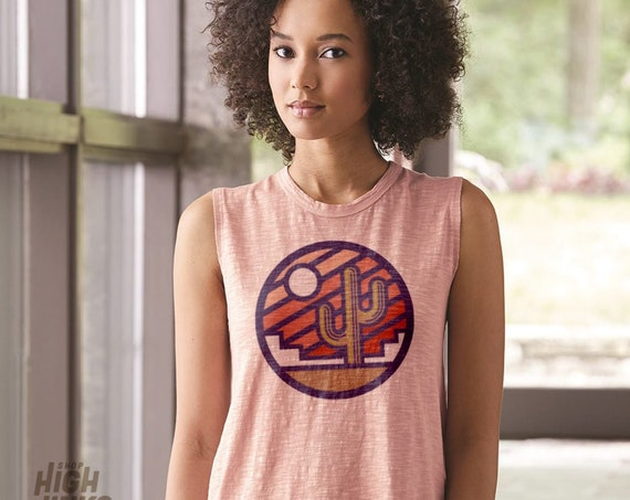Stained Glass Sunrise : Women's Muscle Tee