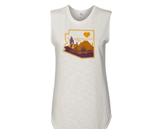 Heart of the Desert : Women's Muscle Tee