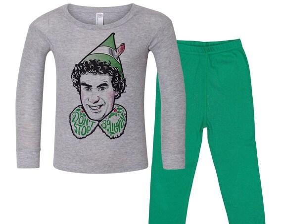 Don't Stop Believin' : Toddler's Christmas Pajamas
