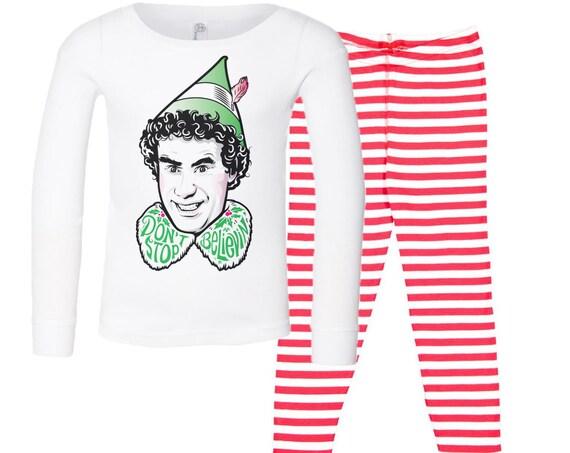 Don't Stop Believin' : Kid's Christmas Pajamas