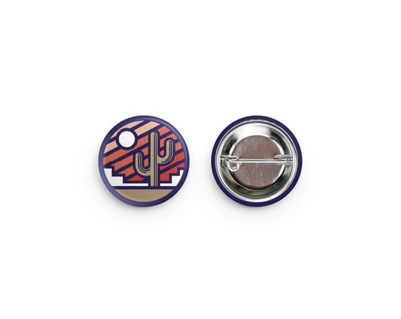 Stained Glass Sunrise Pinback Buttons: 1.25""