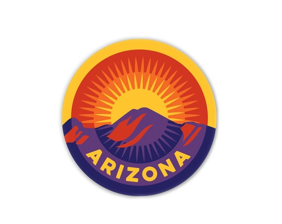 "Sunset on Camelback : 3"" Vinyl Sticker"
