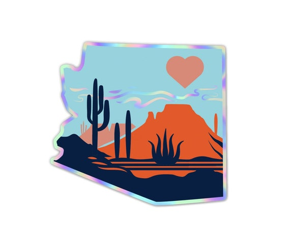 "Heart of the Desert : 3"" Holographic Detailed Vinyl Sticker"