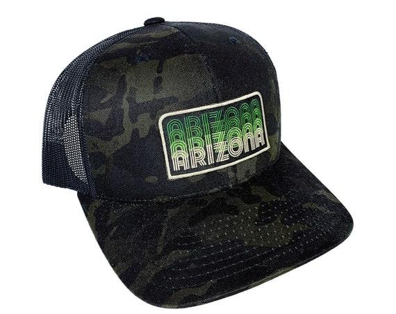Arizona Fade : Black Multicam Trucker Hat