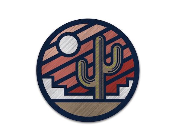 """Sonoran Sunrise : 3"""" Brushed Aluminum Vinyl Sticker"""