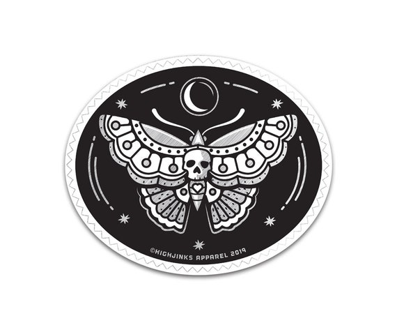"Desert Moth : 3"" Brushed Alloy Vinyl Sticker"