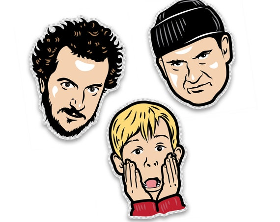 """Harry, Marv & Kevin : 2.75"""" Clear Vinyl Sticker Pack"""