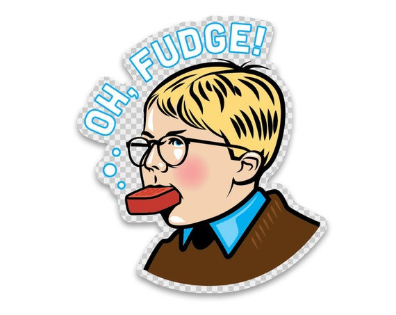 """OH Fudge : 2.00"""" Clear Vinyl Sticker"""