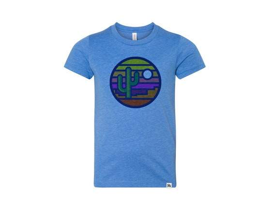 Stained Glass Sunset : Kid's Unisex Soft Blend T-Shirt